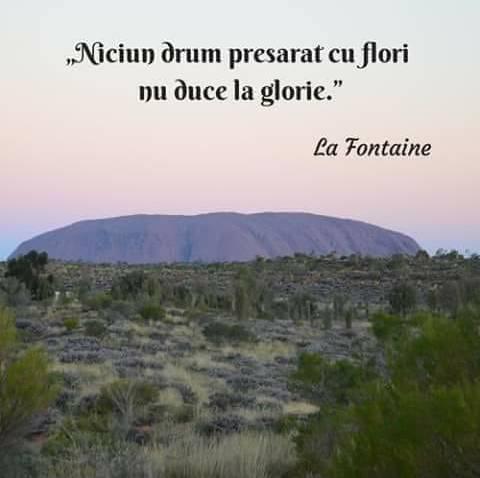 """""""Niciun drum presărat cu flori nu duce la glorie"""" - La Fontaine"""