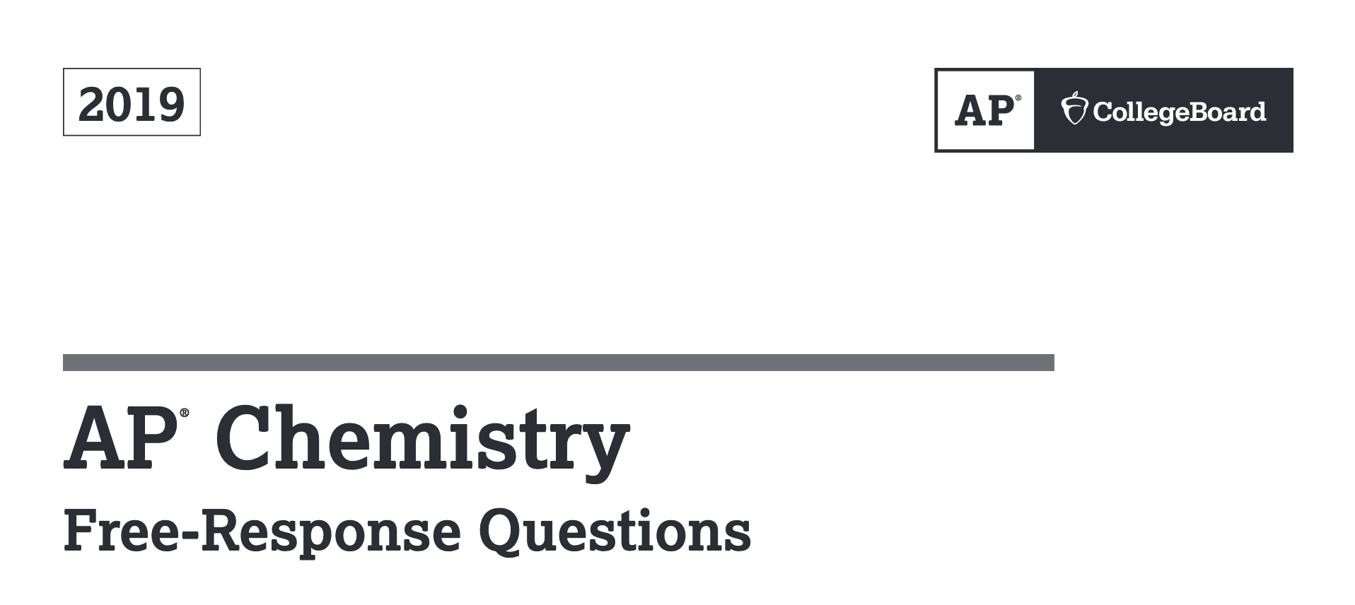 Ap Chemistry Released Frq Answers