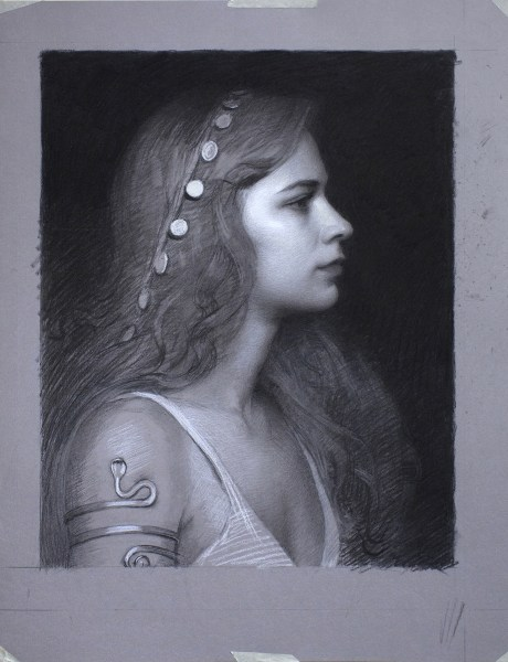 Adrian Gottlieb - Seeress finished charcoal