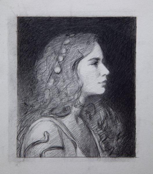 Adrian Gottlieb - Seeress pencil study