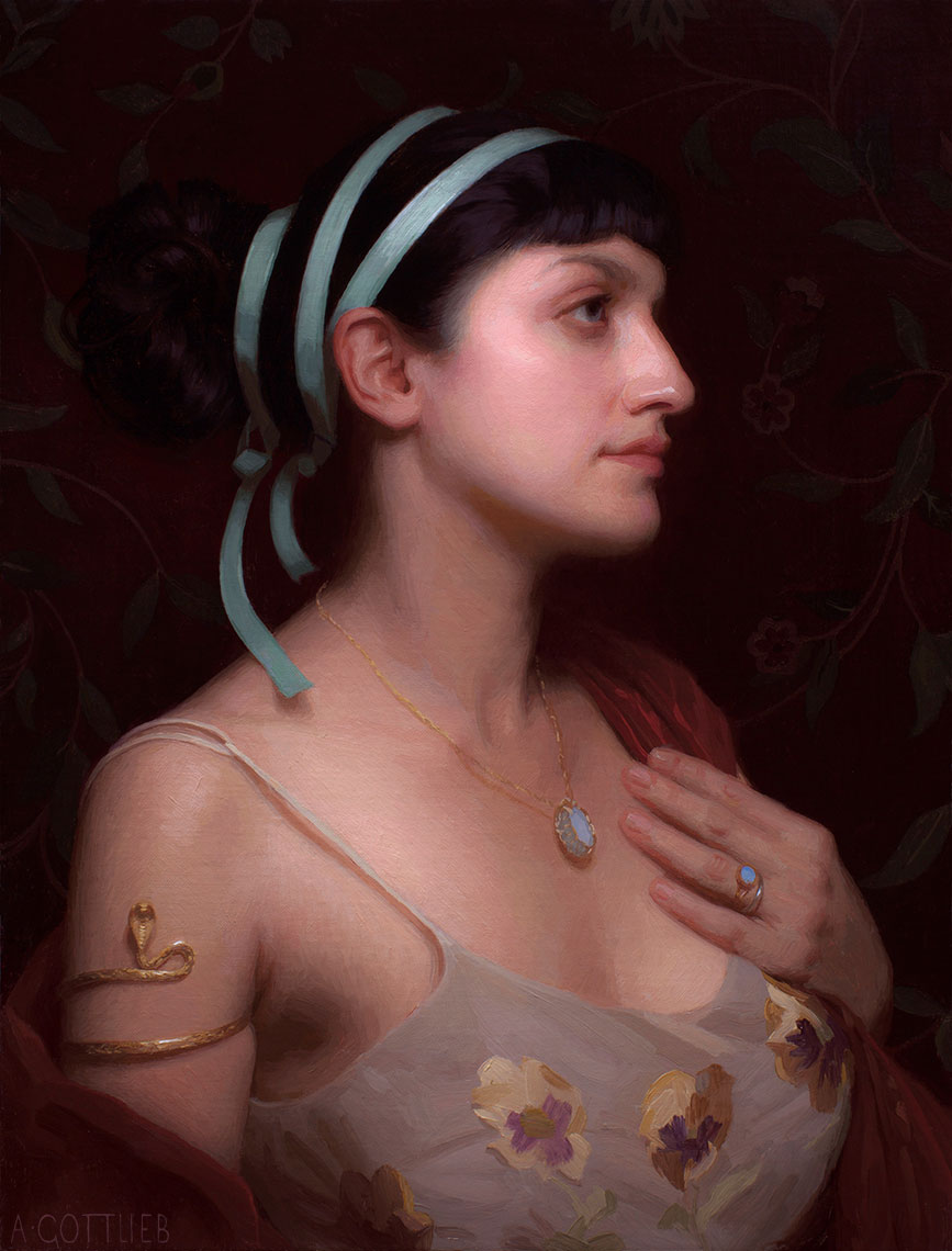 Azure by Adrian Gottlieb, 20 x 16 inches, oil on panel