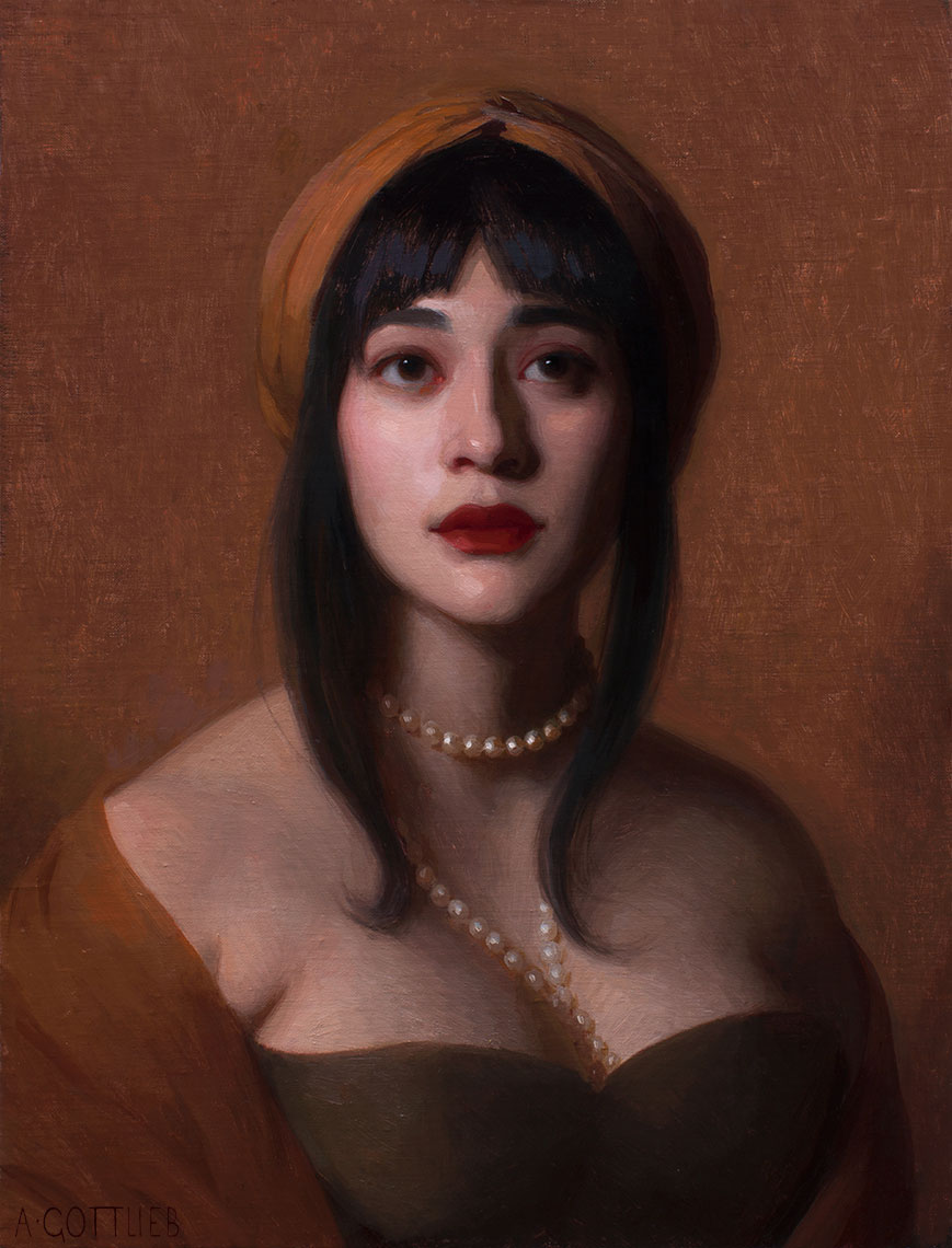 Aria by Adrian Gottlieb, 20x16 inches, oil on panel