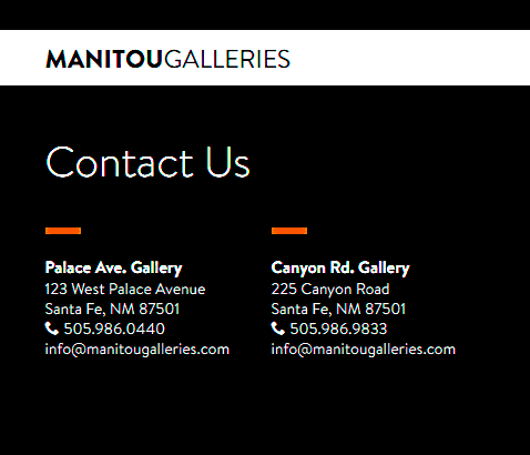Manitou Galleries contact