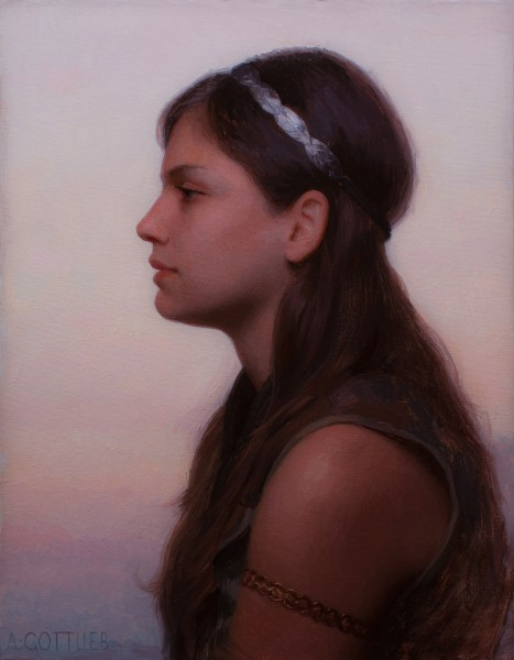 Jordan, 14x18, oil on panel by Adrian Gottlieb