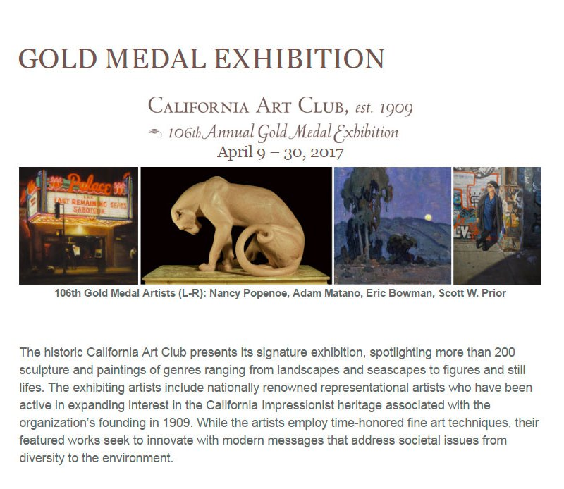 California Art Club 106th Gold Medal Exhibition