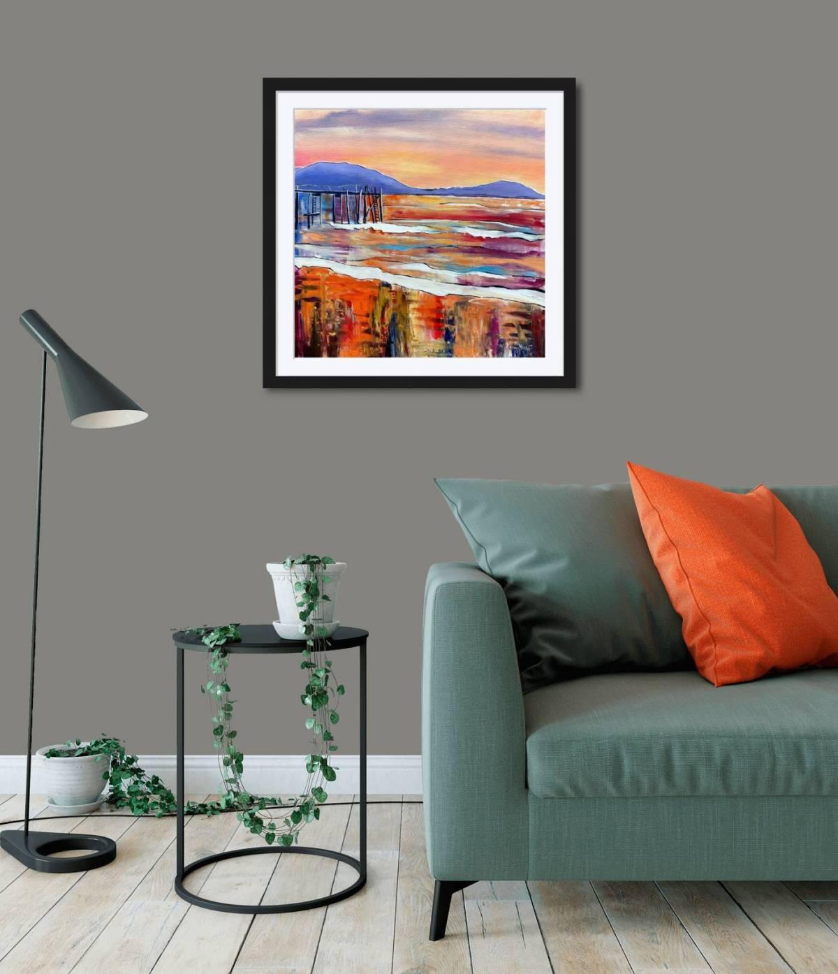 Kinnegar Pier Sunset in Room