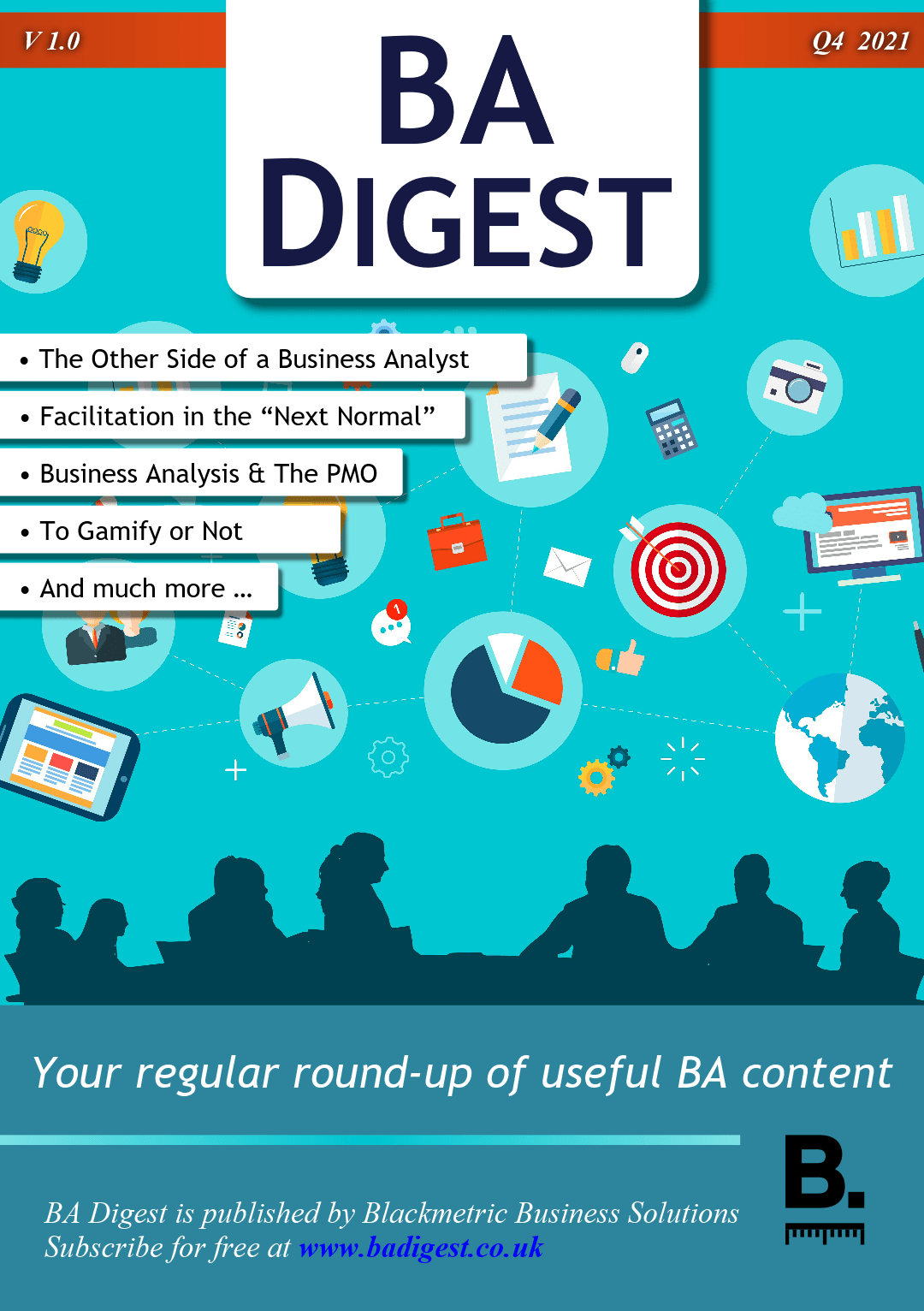 BA Digest: Your regular round up of BA related content. Q4 2021 edition. (Magazine cover)