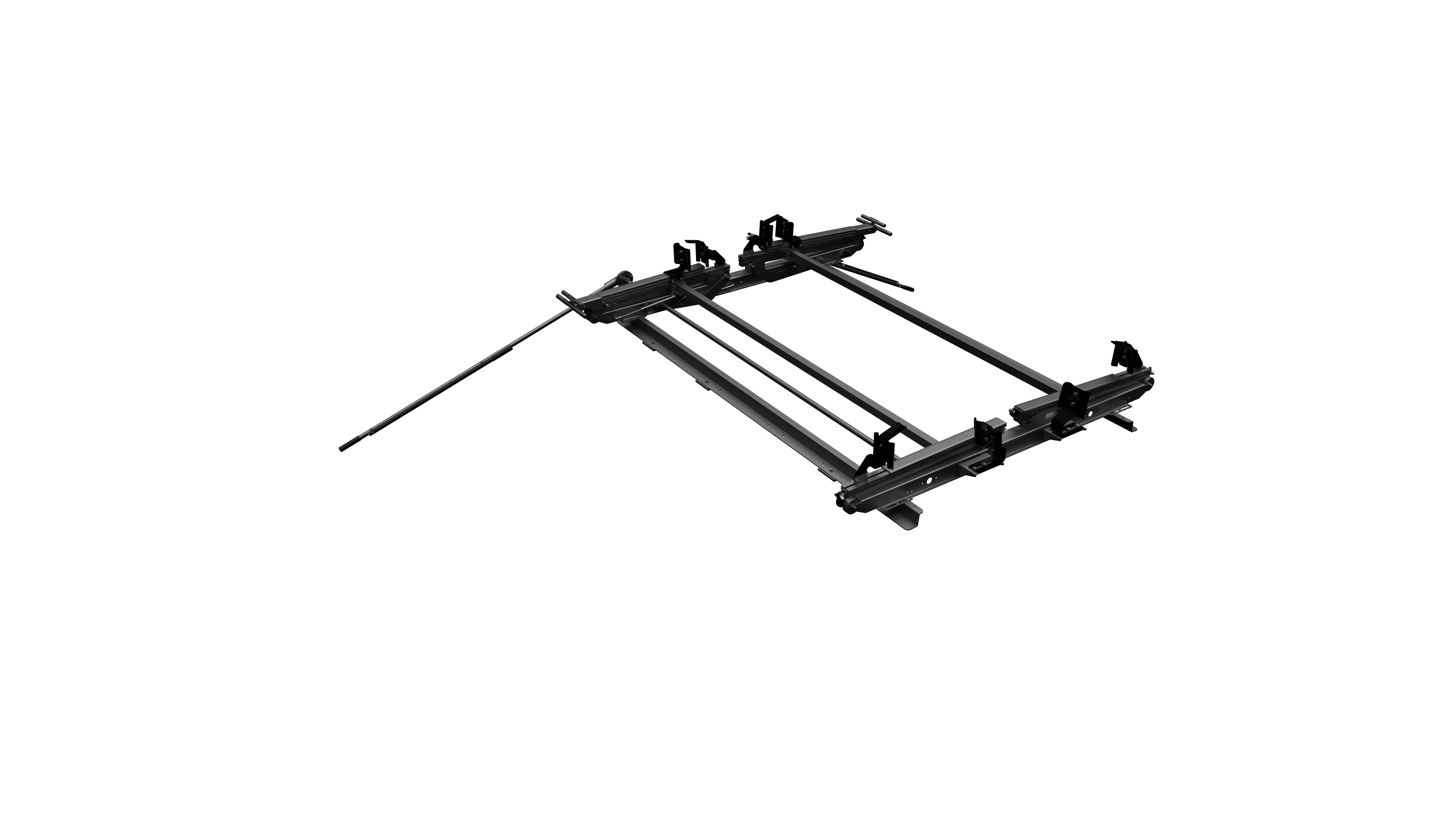 Dual Sided Drop Down Ladder Rack Transit High Roof