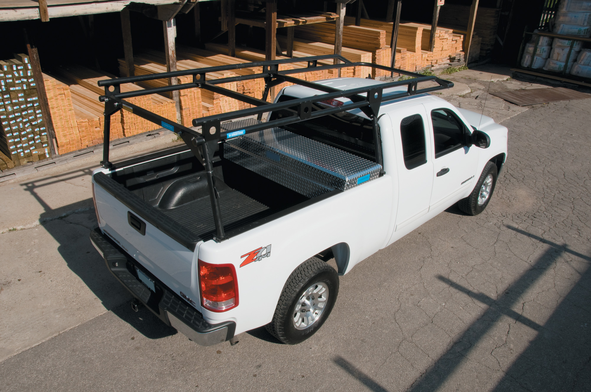 commercial truck ladder racks by adrian