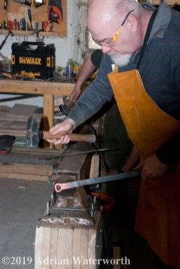 Me at blacksmith school