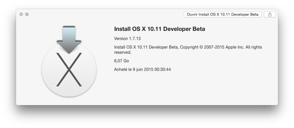 OS X 10.11 El Capitan sur VMware (1/6)