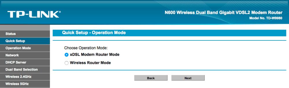 Remplacer la Livebox par un TP-Link TD-W9980 (2/4)