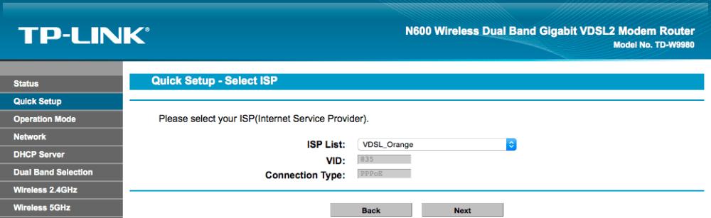 Remplacer la Livebox par un TP-Link TD-W9980 (3/4)