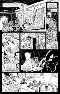 Good Intentions page 4. Art and lettering by Gene Kelly. Written by Adron Buske.