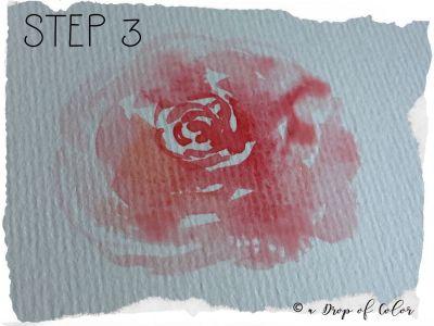 come realizzare una rosa con l'acquerello in 3 step