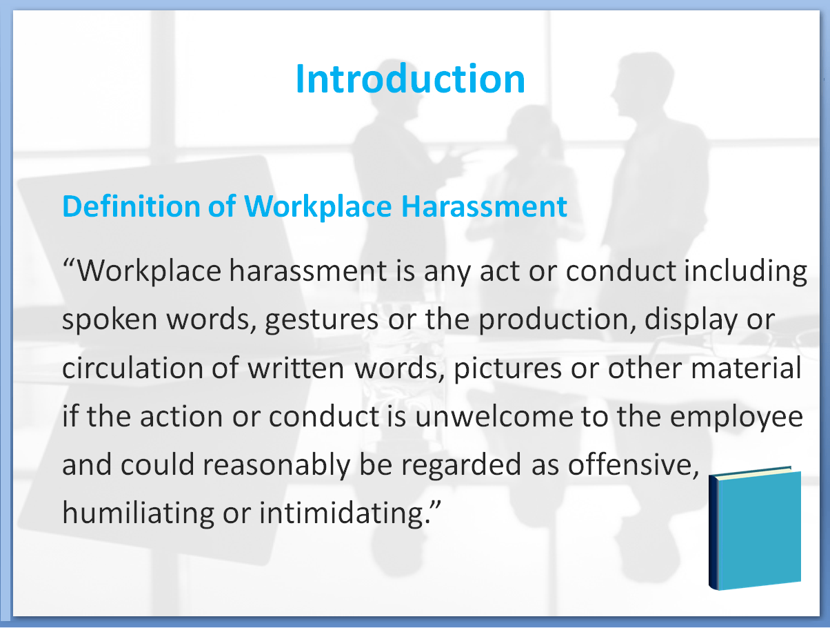 Bullying and Harassment Awareness Training Course | Definition of Workplace Harassment