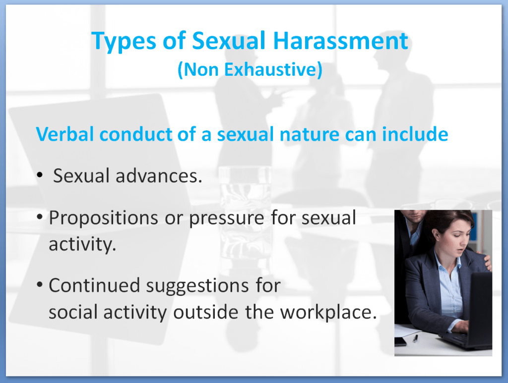 Bullying and Harassment Awareness Training Course | Types of Sexual Harassment