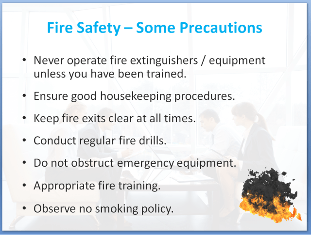 Health and Safety Awareness Training Course - Fire Safety