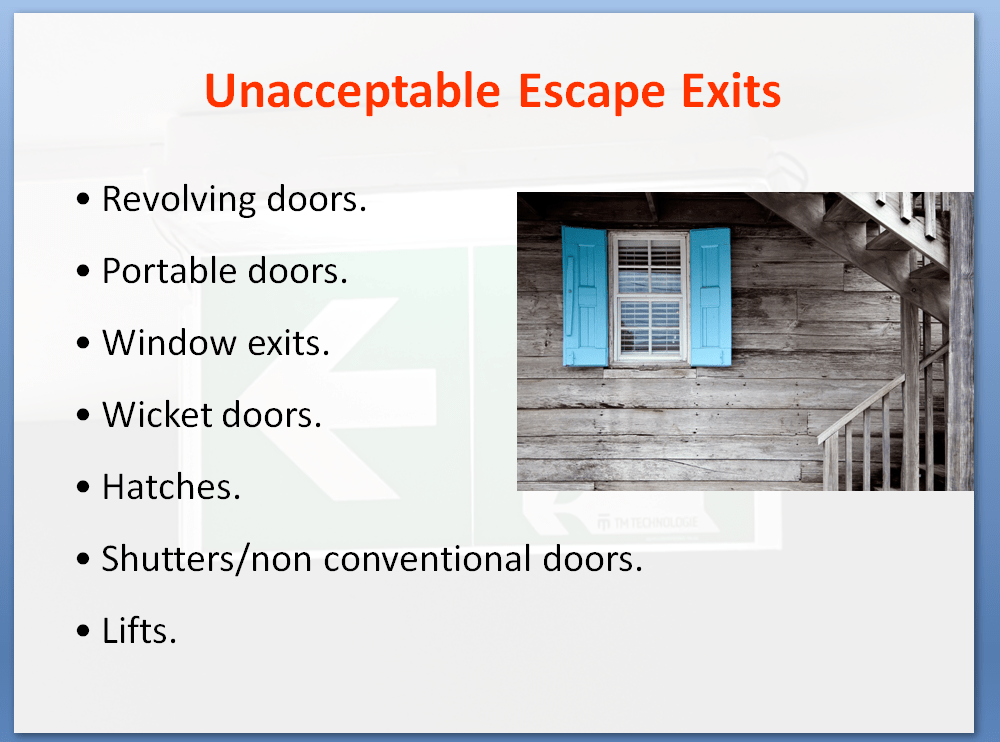 Unacceptable Escape Exits