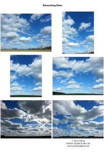 Contact sheet skies