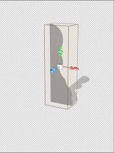 Effect on 3D object.