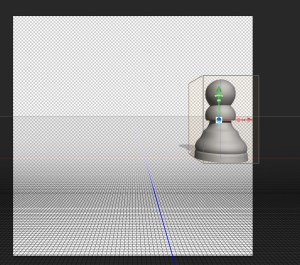 3D Object moved on x axis