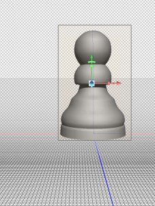 Photoshop 3D object move to ground