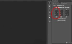 Photoshop 3D positional coordinates