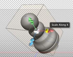 Photoshop 3D Scale Widget.