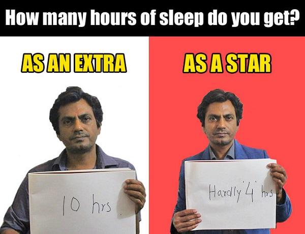 how much nawaz sleep