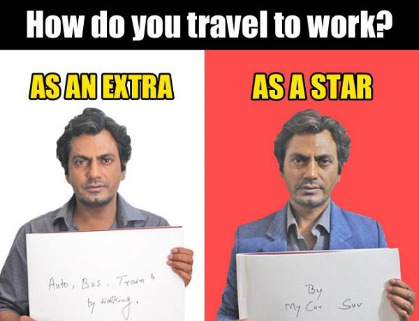 how nawaj travel to work