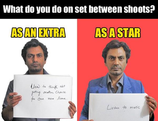what nawaz do on set between shoots