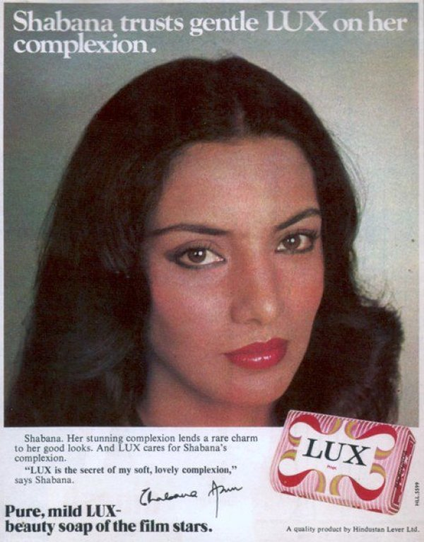 shabana in lux ad