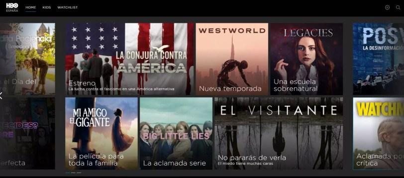 HBO Alternativas a Netflix