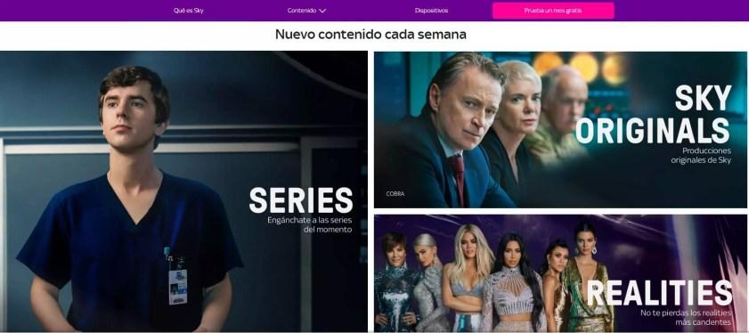 Sky tv alternativas a Netflix