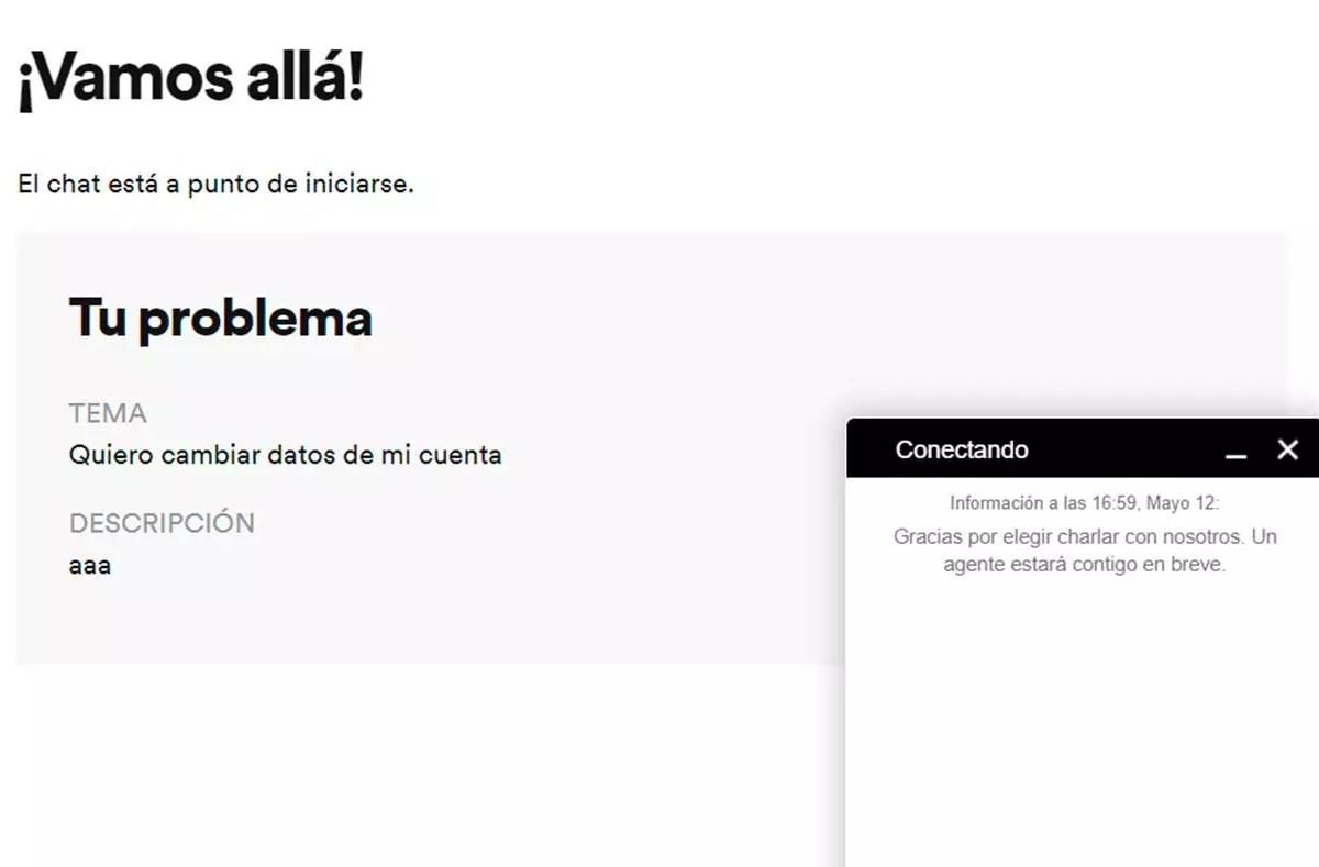 Chat de Spotify