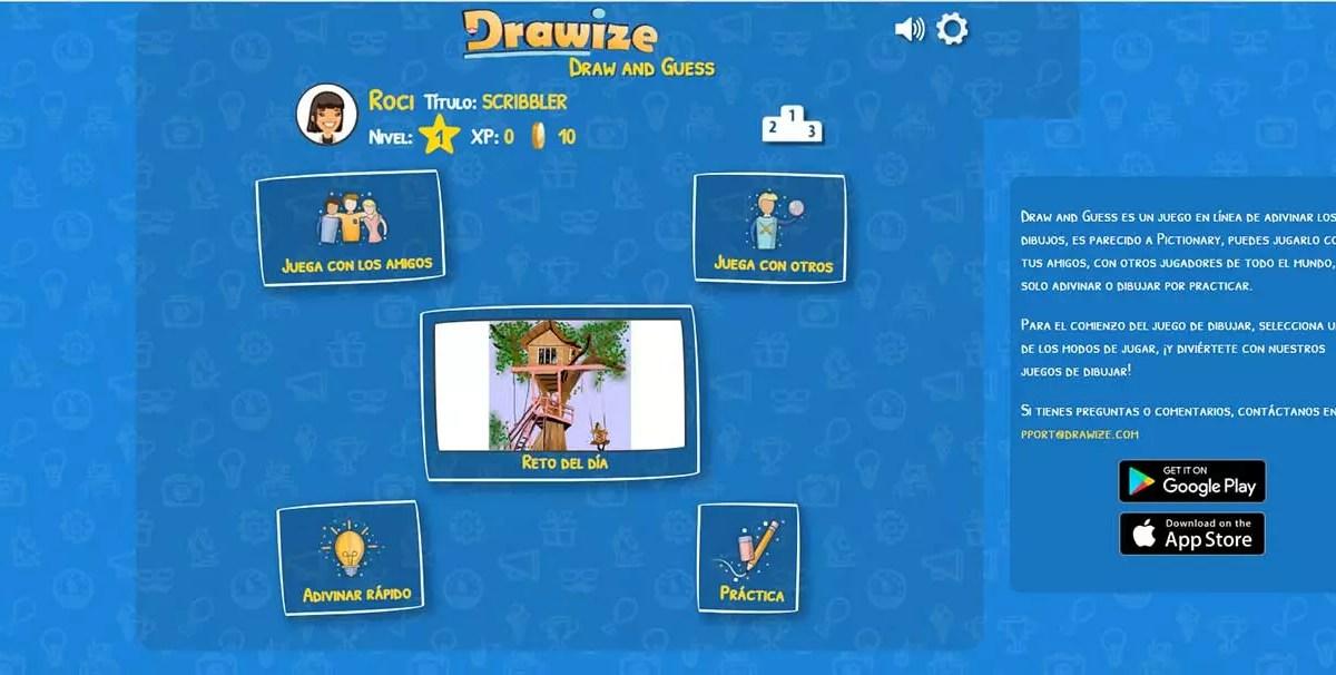 Drawize - Webs para juegos multijugador