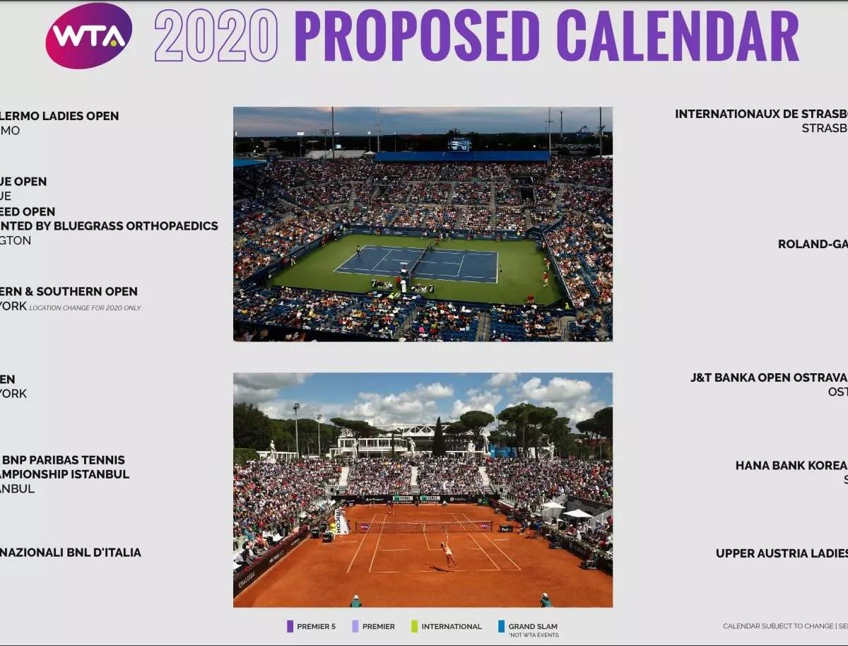 Donde ver torneos de tenis WTA