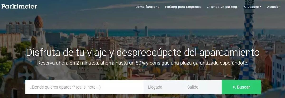 Parkimeter - Webs para buscar aparcamiento