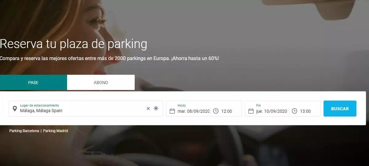 onepark - Webs para buscar aparcamiento