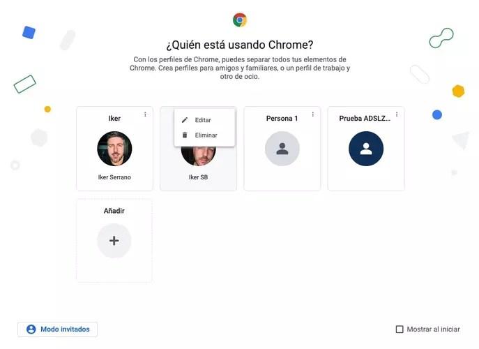 delete google chrome profiles