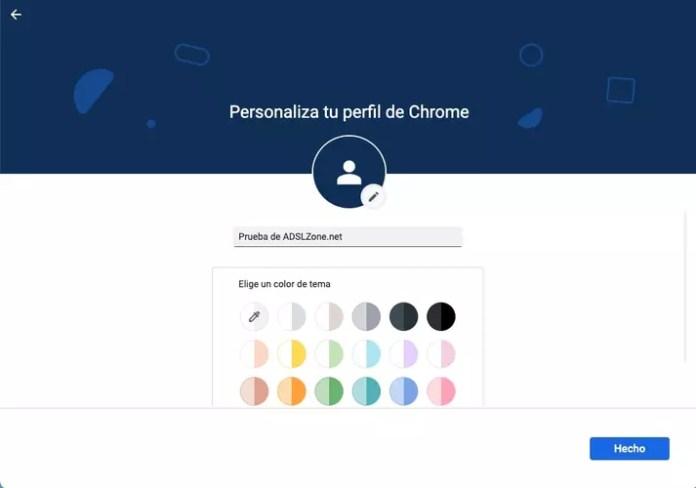 customize google chrome profile
