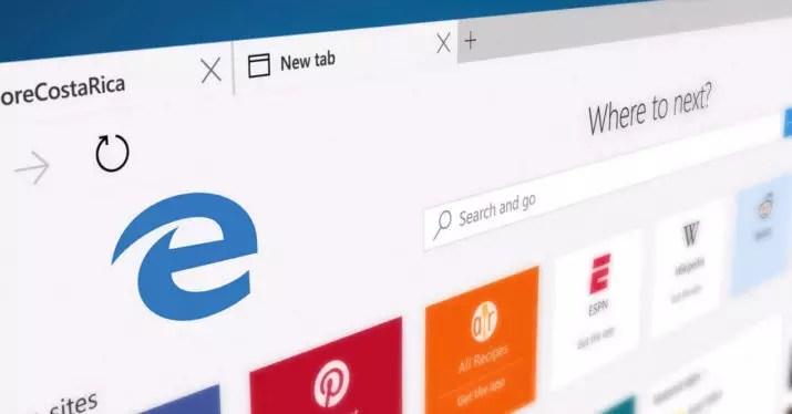 Publicidad en Microsoft Edge