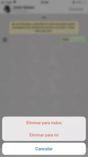 Cómo borrar mensajes enviados de WhatsApp