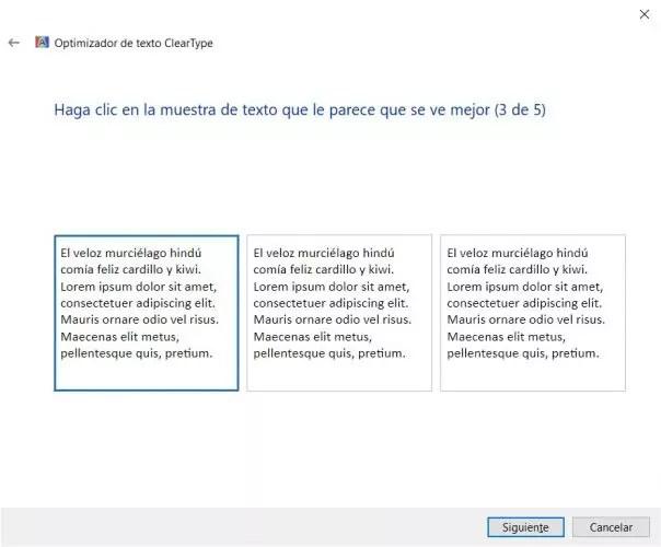 letras borrosas en Windows 10