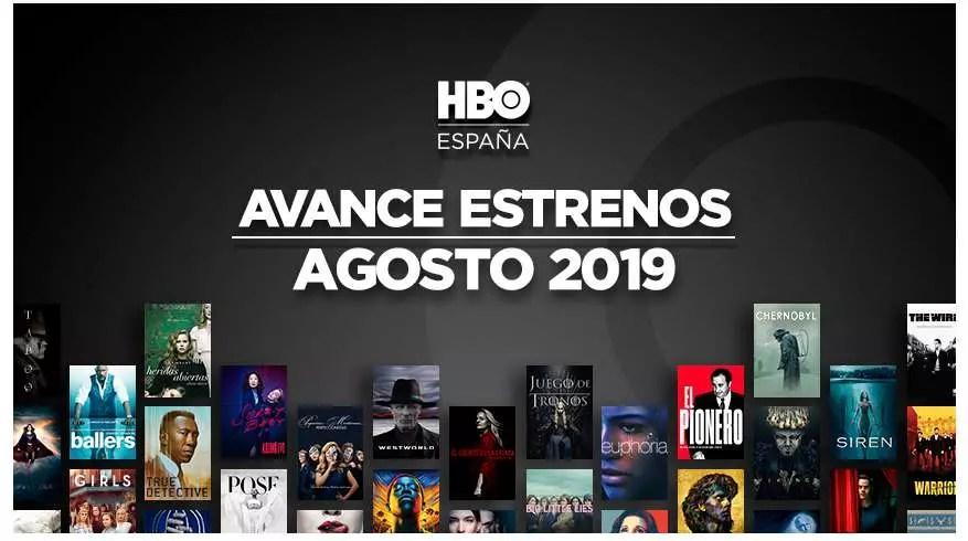 Estrenos HBO agosto 2019