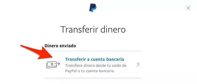 Transfer money to a bank account