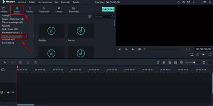 efectos de sonido