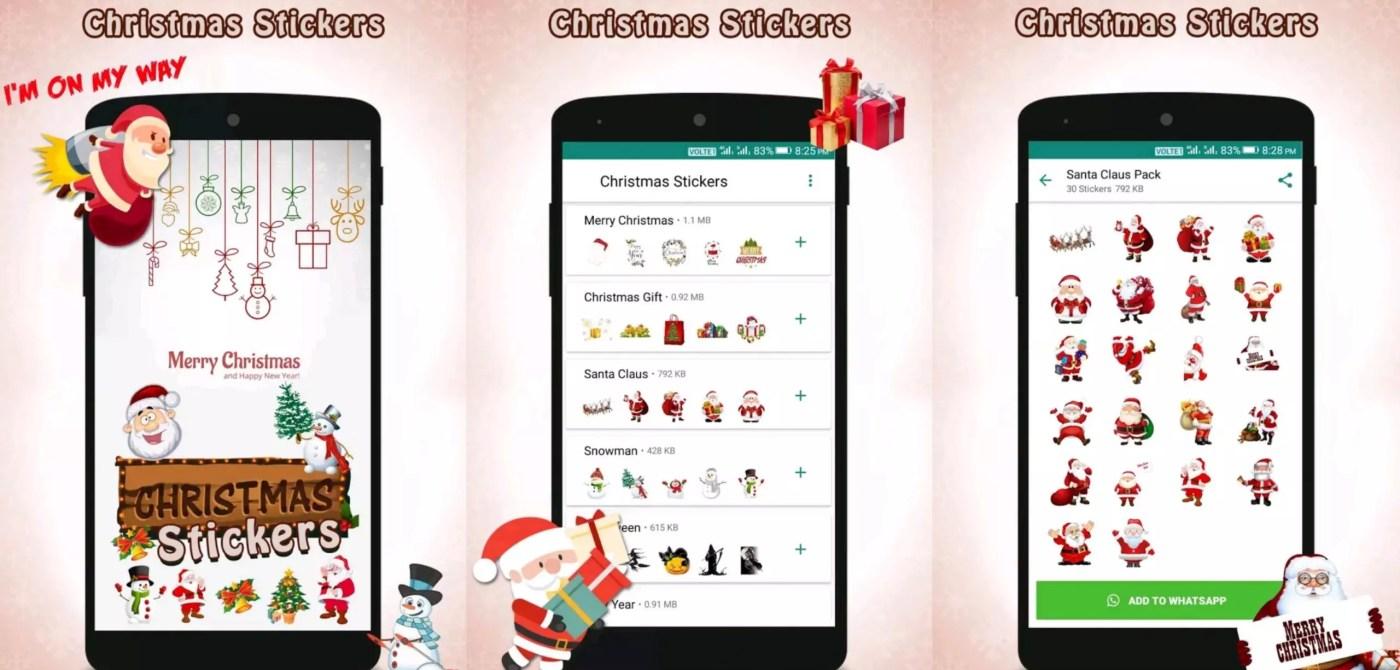 Los mejores paquetes de stickers de Navidad para WhatsApp - Christmas Stickers