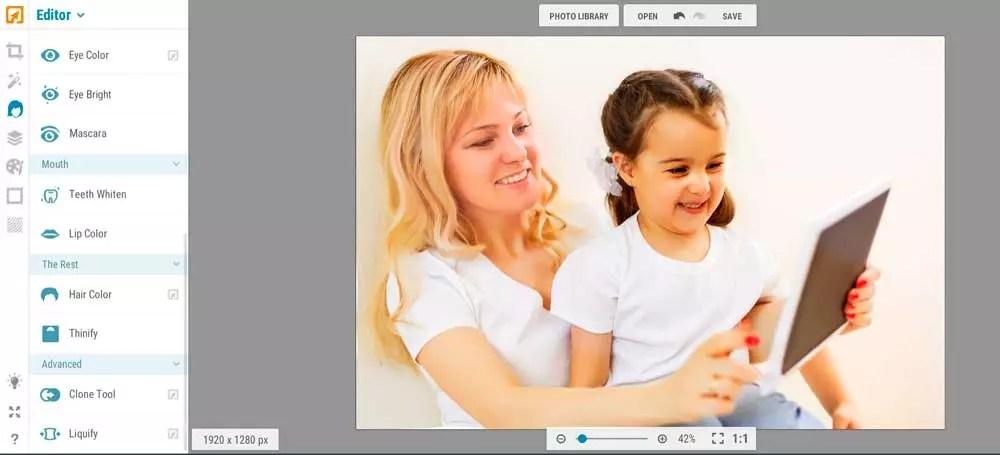 retoques básicos para fotos con Ipiccy